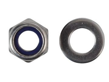 Nyloc Nuts & Washers A2 Stainless Steel M10 ForgePack 8